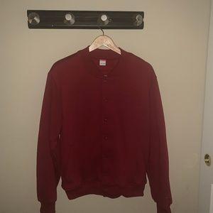 American Apparel Fleece Varsity Jacket